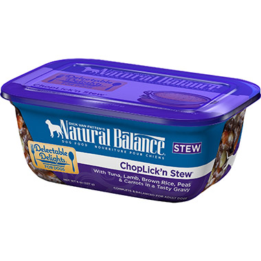 Delectable Delights Chop Lick'n Stew Container Dog Stew