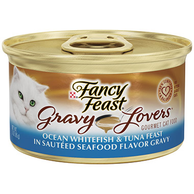 Gravy Lovers Ocean Whitefish & Tuna Feast in Sauteed Seafood Flavor Gravy