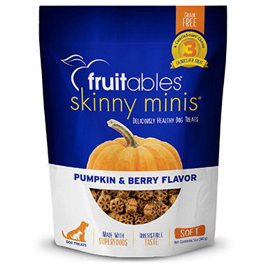 Skinny Minis Chewy Pumpkin & Berry Dog Treats