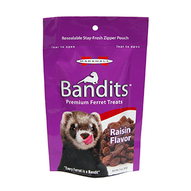 Bandits Premium Ferret Treats Raisin Flavor
