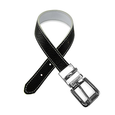 Duo Color Leather Dog Collar Black & White