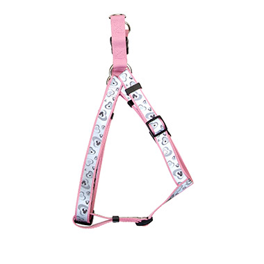 lazer-brite-reflective-nylon-adjustable-dog-harness-pink-new-hearts
