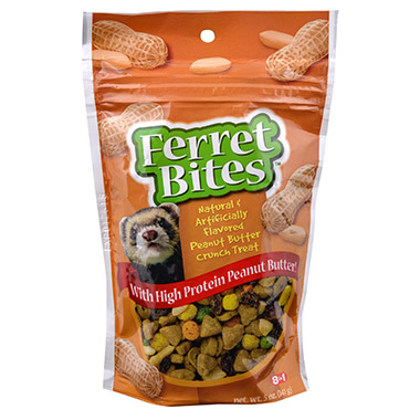 ferret-bites-peanut-butter-crunchy-treat