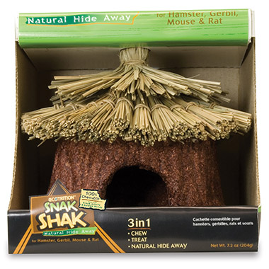 eCOTRITION Small Animal Snack Shak Natural Hide Away- Small