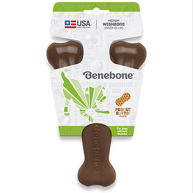 peanut-butter-wishbone-dog-chew-toy
