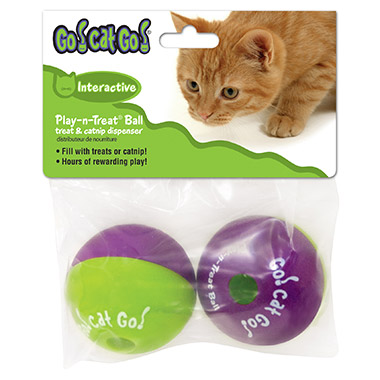 Interactive Plan-n-Treat Ball treat & catnip dispenser