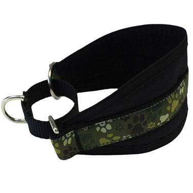 Hound Nylon Fleece-Lined Dog Collar - Pitter Patter Camo