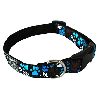 Adjustable Nylon Dog Clip Collar - Pitter Patter Chocolate