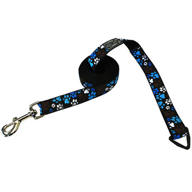 nylon-dog-leash-with-accessory-triangle-pitter-patter-chocolate