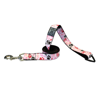 nylon-dog-leash-with-accessory-triangle-pitter-patter-pink
