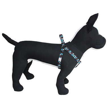adjustable-nylon-stepin-dog-harness-pitter-patter-chocolate