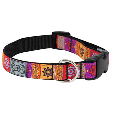 adjustable-nylon-dog-clip-collar-trendy-mehndi