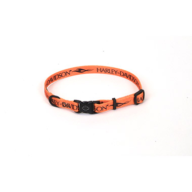 harleydavidson-nylon-adjustable-dog-collar-orange-block