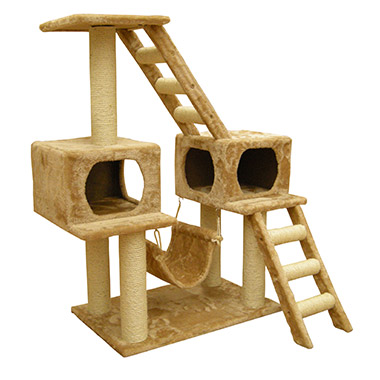 twin-house-with-ladder-cat-furniture
