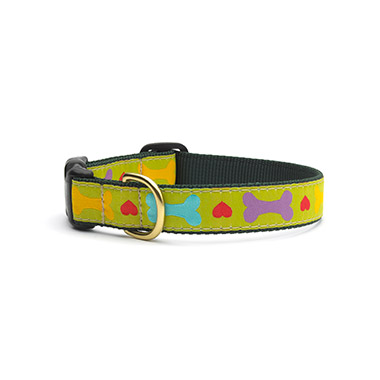 nylon-adjustable-dog-collar-heart-and-bone