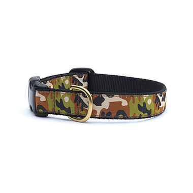 Nylon Adjustable Dog Collar - Camoflage
