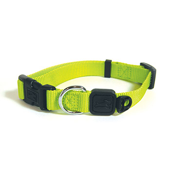 nylon-adjustable-collar-lime-green