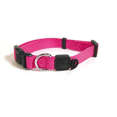 nylon-adjustable-collar-hot-pink