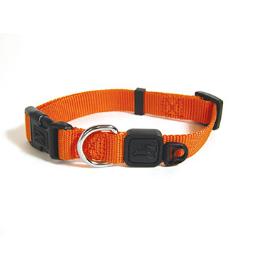 nylon-adjustable-collar-orange