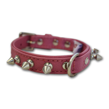 rotterdam-dog-collar-leather-spiked-bubblegum-pink