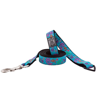 nylon-dog-leash-with-accessory-triangle-tropical-paisley