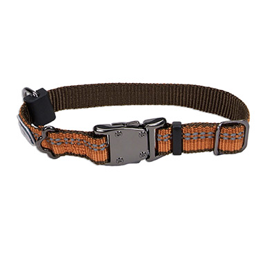 reflective-nylon-adjustable-dog-collar-campfire-orange