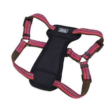 reflective-stepin-padded-dog-harness-berry