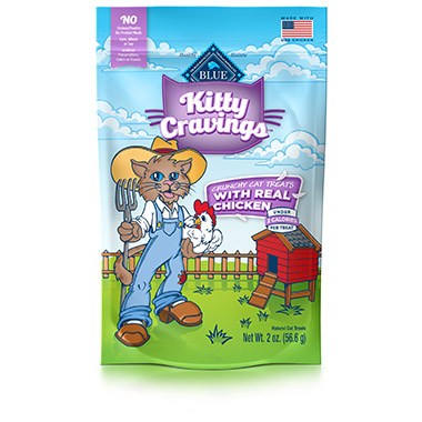 Kitty Cravings Crunchy with Real Chicken