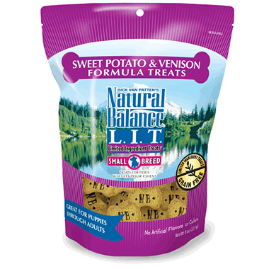 L.I.T. Limited Ingredient Treats Small Breed Sweet Potato & Venison Formula