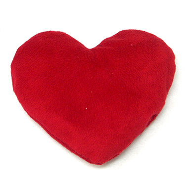 Plush Red Valerian Filled Heart