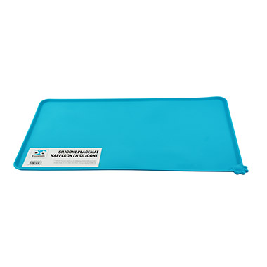 Silicone Dog Food Mat Bright Blue