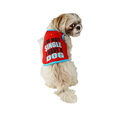 I'm Not Single I Have A Dog Red Tank