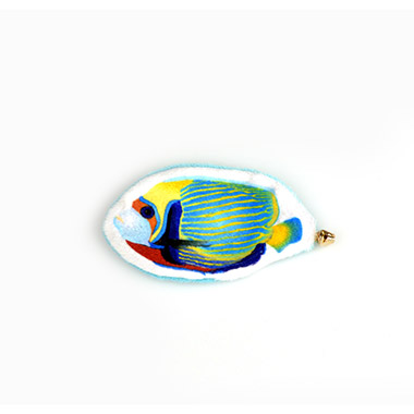 Tropical Flatty Fish with Crinkle & Bell - Yellow