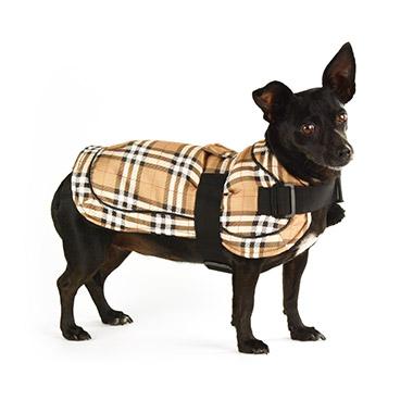 Plaid Blanket Coat Brown