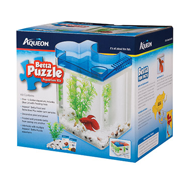 Betta Puzzle Aquarium Kit Blue