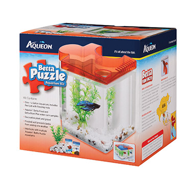 Betta Puzzle Aquarium Kit Red