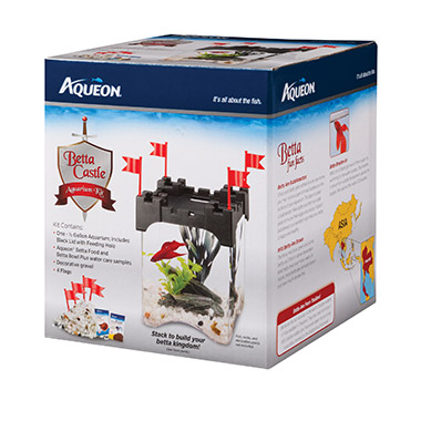 Betta Castle Aquarium Kit Black