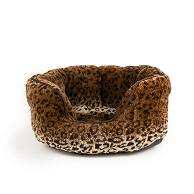 Animal Print Oval Bed