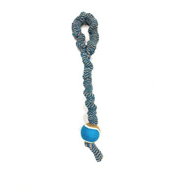 Plush Bungee Rope Tug with Tennis Ball