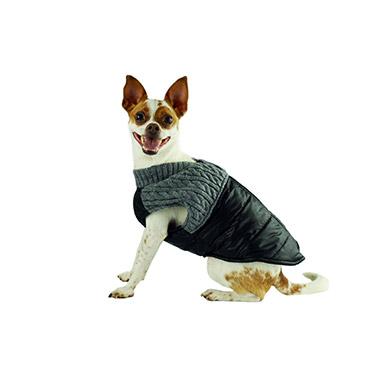 Vest with Zipper Black/Grey