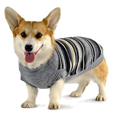 Striped Sweater Grey Mix