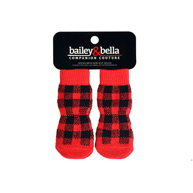 Buffalo Check Grip Socks