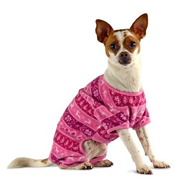 Fleece Pyjamas Fairisle Pink