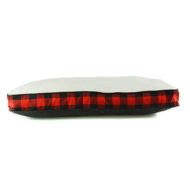 Red & Black Buffalo Check Pillow Bed