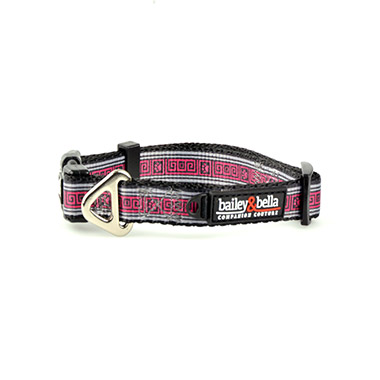 Adjustable Collar Pink Squares