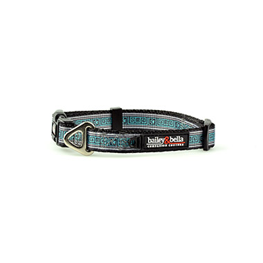 Adjustable Collar Blue Squares