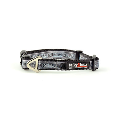 Adjustable Collar Gray Squares