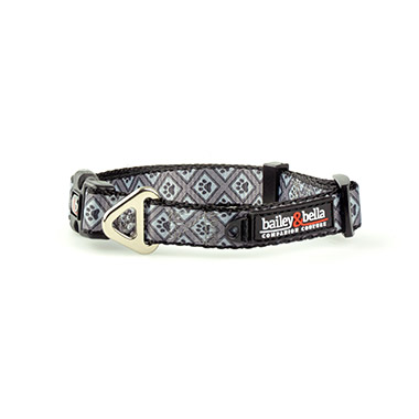 Adjustable Collar Gray Diamonds