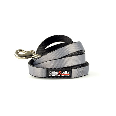 "Nylon Leash - 1"" Gray"