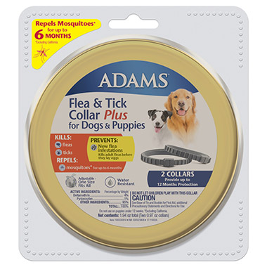 Flea & Tick Collar Plus for Dogs & Puppies